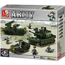 اسباب بازي ساختني اسلوبان مدل  Army Armored Corps United Milttary Exercise M38 B0290