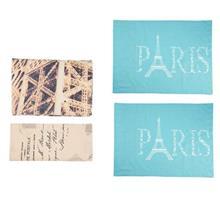 سرویس ملحفه ای گجلر استانبول مدل Paris In Love دو نفره 4 تکه