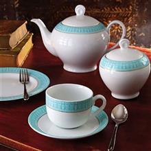 سرویس چینی 12 پارچه چای خوری چینی زرین ایران سری ایتالیا اف مدل Sepid Sadaf درجه عالی