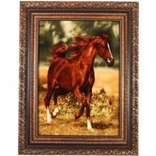 تابلو فرش چله ابریشم گالری مثالین طرح اسب کد 25015