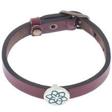 دستبند چرمی الف دال طرح 5
