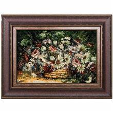 تابلو فرش گالری سی پرشیا طرح گل داوودی کد 911015