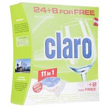Claro 11in1 Dishwasher Tablets Pack Of 32