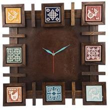 ساعت ديواري گالري اسعدي مدل خشتي فرسکو
