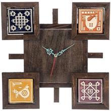 ساعت گالری اسعدی مدل چهار خشت فرسکو طرح 2