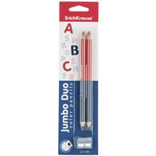 مداد رنگي اريش کراوزه مدل Jumbo Duo - بسته 2 عددي