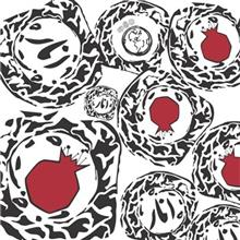 Gooshe Pomegranate Stamp Design Fabric Gift Wrap