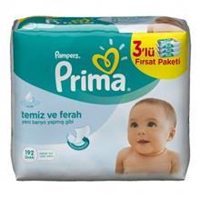 دستمال مرطوب کودک ۳ بسته۶۴ تایی پمپرز پریما