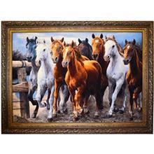 تابلو فرش طرح اسب کد 12063