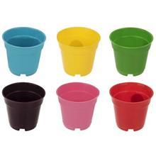 مجموعه 6 عددي گلدان گلباران سبز مدل 06-07