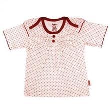 تی شرت دخترانه آستین کوتاه پاریز (Pariz) طرح خال خالی