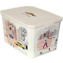 جعبه دکوری لبه دار کرور مدل Miss New-York سایز کوچک