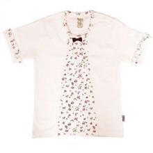 تی شرت دخترانه آستین کوتاه پاریز (Pariz) طرح شکوفه