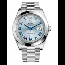ساعت مچی رولکس اتوماتیک Rolex Day-Date II 41 President Platinum Watch Ice Blue Dial 218206