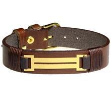 دستبند طلا 18 عیار سیم و گوهر مدل GLP121