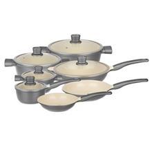 Hardstone 12 Piece Camellia CA2130 Cookware Set