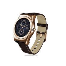 ساعت مچی هوشمند ال جی مدل W150 Watch Urbane Gold Case with Brown Strap Leather Band