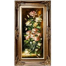 تابلو فرش گالری سی پرشیا طرح گل صد تومانی کد 901123