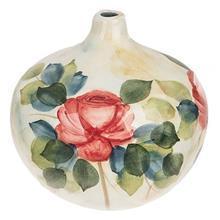 گلدان سراميکي گالري پديدار طرح گل رز سايز متوسط