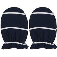 دستکش نوزادي نيلي مدل Navy Blue Stripes