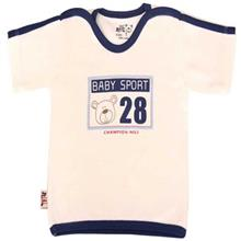 تي شرت آستين کوتاه نوزادي نيلي مدل Sports