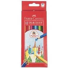 مداد رنگي 12 رنگ فابر کاستل مدل Tri Colour