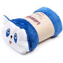 Afra Blue Panda Bear Baby Blanket