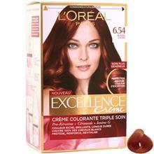 کيت رنگ موي لورآل سري Excellence شماره 6.54