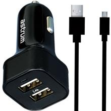 Astrum CC340 Car Charger With microUSB Cable