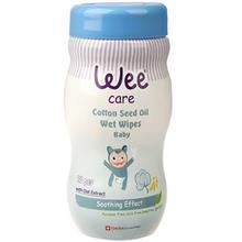 دستمال مرطوب وي مخصوص کودک مدل Cotton Seed Oil بسته 70 عددي