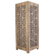 آباژور چوبی گالری آناهید طرح شش ضلعی سایز بزرگ کد 93015