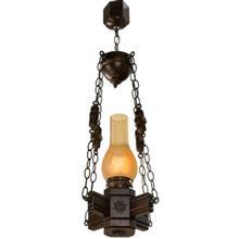 چراغ آویز دارکار مدل روستیک 1 شعله