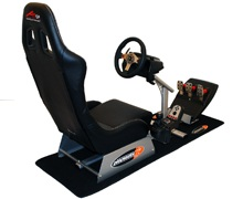 Playseat A1GP with Logitech G27 wheel, pedal, Gear