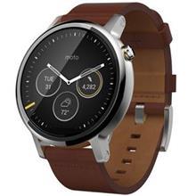 ساعت مچی هوشمند موتورولا 360 چرم  قهوه ای سایز 46 میلیمتر