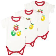 Bebekevi Apple Under Button With Short Sleeves Set Pack Of 3
