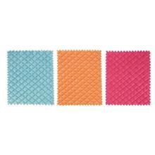 دستمال مايکروفايبر اسفنجي رزي کد 0036  سايز 20 × 22 - بسته 3 عددي
