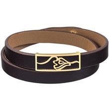دستبند طلا 18 عیار تاج درسا مدل 132
