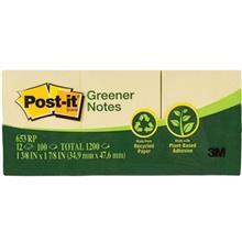 کاغذ یادداشت چسب دار پست ایت مدل Greener کد 653RP - بسته 1200 عددی