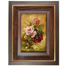 تابلو فرش گالری مثالین طرح رز گل ابریشم  کد 25003