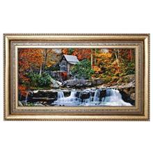 تابلو فرش گالری مثالین طرح منظره رودخانه و آسیاب کد 25083