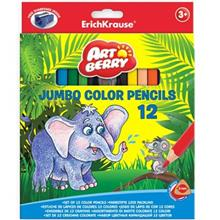 مداد رنگي 12 رنگ اريش کراوزه مدل Jumbo