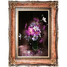 تابلو فرش گالری سی پرشیا طرح گل نسترن بنفش کد 901122