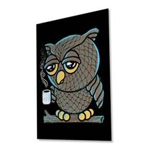 تابلوی ونسونی طرح Owl I want is Coffee سایز 30x40