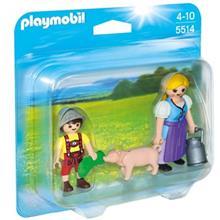ساختني پلي موبيل مدل Country Woman and Boy Duo Pack 5514