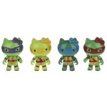 Hello Kitty Ninja Turtles Pack Of 4 Size XSmall Figures