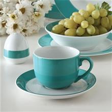 سرویس چینی 17 پارچه چای خوری چینی زرین ایران مدل ایتالیا اف ایندیگو درجه یک
