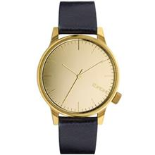 Komono Winston Mirror Gold Navy Watch