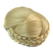 مو تکه ای آماده و بافته شده بور آبوین    Braid Chignon Hair Piece