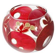 جا شمعی شیشه ای گوی گالری انار مدل 134107 طرح انار