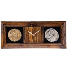 ساعت دیواری گالری آسوریک طرح دو سکه